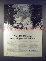 1972 Toyota Car Ad w/ 1970 Corona - Still Delivers