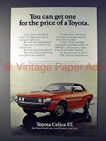 1972 Toyota Celica ST Car Ad - For the Price of Toyota