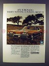 1972 Oldsmobile Toronado Car Ad - Nothing Common!