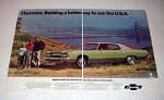 1972 2-page Chevrolet Impala Custom Coupe Car Ad!