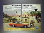 1972 Chevy Nova Coupe Car Ad: Alamo, Hold Out for Years