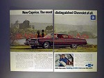 1973 2-page Chevrolet Caprice Coupe Car Ad - Distinguished