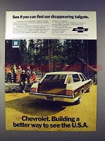 1972 Chevrolet Kingswood Estate Wagon Ad - Disappearing
