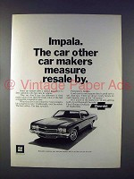 1972 Chevrolet Impala Car Ad - Measure Resale By