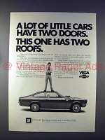 1972 Chevrolet Vega Car Ad - Has Two Roofs!