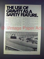 1972 Chevrolet Vega Coupe Car Ad - Use of Gravity