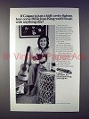 1973 Colgate Toothpaste Ad w/ Billie Jean King