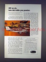 1973 Beechcraft Baron Airplane - The Wilds You Ponder!