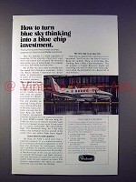 1973 Beechcraft King Air A100 Plane Ad - Investment