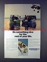 1973 Evinrude Outboard Motor Ad - Do Something Nice