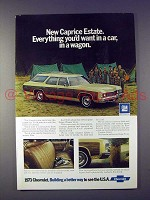 1973 Chevrolet Caprice Estate Wagon Ad - Everything!