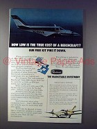 1974 Beechcraft Duke B60 Plane Ad - Low True Cost