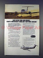 1974 Beechcraft King Air Plane Ad - Save Time and Money