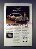 1975 Chevrolet Caprice Classic Car Ad - Style!