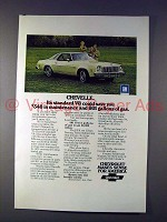 1975 Chevrolet Chevelle Car Ad - Save Gallons of Gas!
