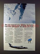 1976 Beechcraft Duke Plane Ad - Holiday Horizons!