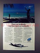 1976 Beechcraft Bonanza V35B Plane Ad - Weekends!
