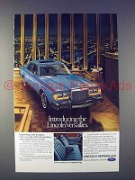 1977 Lincoln Versailles Car Ad - Introducing!