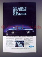 1977 Chevrolet Monte Carlo Car Ad - What's New Today