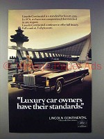 1978 Lincoln Continental Car Ad - Have Standards!