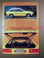 1980 Toyota Corolla Liftback Car Ad - All New!