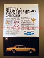 1980 Chevrolet Caprice Classic Coupe Car Ad!