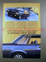 1981 1/2 Toyota Corolla Sports Hardtop Car Ad!
