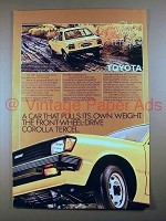 1981 Toyota Corolla Tercel Car Ad - Pulls Own Weight