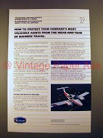 1982 Beechcraft Plane Ad - Protect Valuable Assets!
