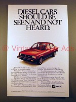 1982 Isuzu Diesel Coupe Car Ad - Seen Not Heard