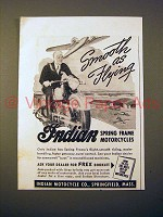 1942 Indian Motorcycle Ad - Smooth as Flying