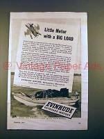 1944 Evinrude Outboard Motor Ad - With a Big Load