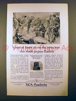 1927 RCA Radiola 26 Radio Ad - At Home or Open Seas