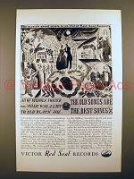 1929 Victor Red Seal Records Ad - All of Stephen Foster