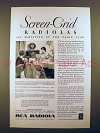 1929 RCA Radiola 44 Radio Ad - Screen-Grid