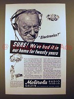 1943 Motorola Radio Ad - Had it For Twenty Years!