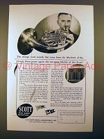 1944 Scott Radio Ad - Sweet Sounds of the French Horn