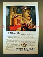 1947 General Electric Musaphonic Radio-Phonograph Ad - Witchery