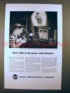1948 RCA Television Ad - You're Right in the Game!