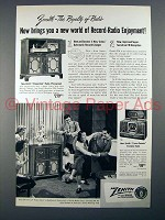 1950 Zenith Chippendale, Trans-Oceanic Radio Ad