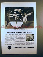 1947 RCA Television Ad - Picture Tube Brought Life
