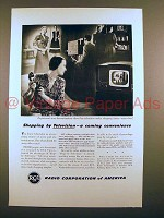 1948 RCA Television Ad - Shopping, A Coming Convenience
