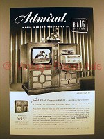 1949 Admiral Magic Mirror Television Ad - 16 Screen