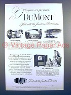 1951 Du Mont Mount Vernon Television Ad - 20 Years