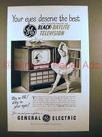1951 General Electric Model 17C107 TV Ad - Your Eyes