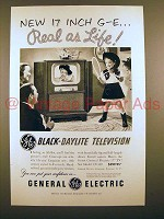 1951 General Electric Model 17C109 Television Ad!