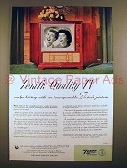 1952 Zenith Sovereign TV Ad - Incomparable 27-inch