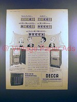 1955 DECCA Television and RadioGramophone Ad!