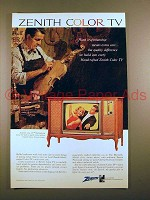 1966 Zenith Marseille Model 9345 Color TV Ad!