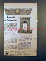 1913 AT&T Telephone Ad - Symbols of Protection